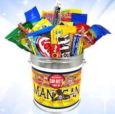 candy gift basket the can can of candies snacks blaircandy