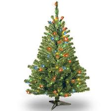 national tree company 4 ft spruce tree with multicolor lights