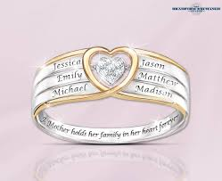6 mothers ring in a s heart brilliant motions diamond ring with names