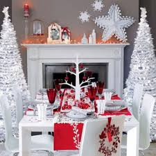 Red Dining Table by Mix Red Silver And White For A Classy Christmas U2013 At Home With