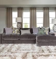 gray velvet sectional sofa deksob com
