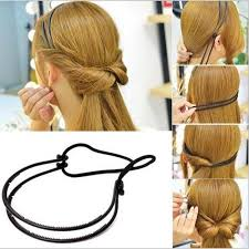 headband styler fashion women girl layer adjustable hair hoop elastic