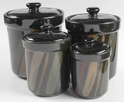 black kitchen canisters lovely black kitchen canisters canister sets sango