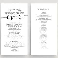 downloadable wedding programs wedding programs wedding program instant wedding
