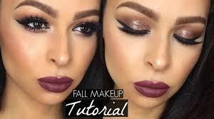 glitter glam fall makeup tutorial full face