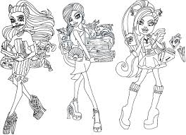 monster high coloring pages frights camera action monster high robecca coloring pages getcoloringpages com