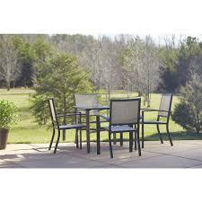 Aluminum Patio Furniture Sets - cosco outdoor 5 piece serene ridge aluminum patio dining set dark