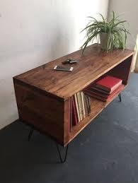 Lp Record Cabinet Furniture Vinyl Record Shelf W Custom Hairpin Legs By Karmadeefa On Etsy