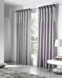 Light Gray Curtains by Silver Savoy Ready Made Eyelet Curtains Free Uk Delivery Light