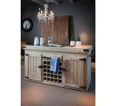billot central de cuisine billot central en pin et marbre 2 portes et range bouteilles cook