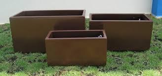 rectangular planter box contemporary planter box for the modern