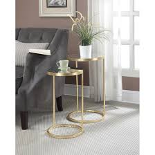 convenience concepts gold coast faux marble end table convenience concepts gold coast round nesting mirror end tables