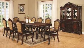 dining table and chair set with 8 chairs by coaster wolf and