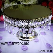 wedding cake stand with hanging crystals annabelle chandelier