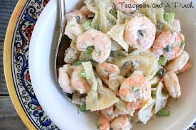 Pasta Salad Recipe Mayo by A Teaspoon And A Pinch Shrimp And Pasta Salad