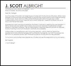 trustee resignation letter resignation letters livecareer