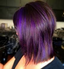 shag haircut brown hair with lavender grey streaks 40 most universal modern shag haircut solutions purple balayage