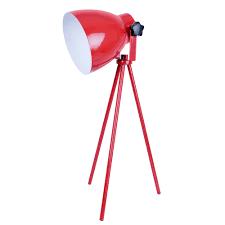Tripod Lamps Floor Alluring Tripod Floor Lamp Design Featuring Red Gloss Modern