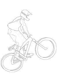 Coloriage à Imprimer Gratuit De Vélo  Meilleures Idées Coloriage