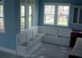small kitchen storage seating bench plan ideas