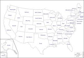 Map Of Continental United States by United States Map Outline Vector With State Names Clipart