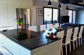 ilot de cuisine avec coin repas cuisine design avec alot central et coin repas installa galerie