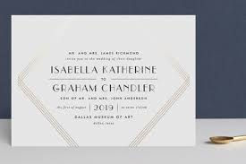 Wedding Invitations Dallas Gilt Foil Pressed Wedding Invitations By Lauren Chism Minted
