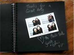 guest book with black pages photobooth picture album pages for and weddings guest book