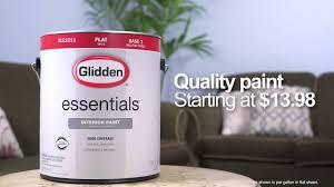 glidden essentials paint youtube