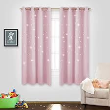 Baby Pink Curtains Thermal Insulated Window Curtains Nicetown