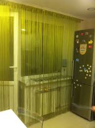 Window Blind String Solid Color Decorative String Curtain 300cm 300cm Black White
