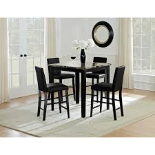 counter high dining room sets shadow counter height dining table black value city furniture