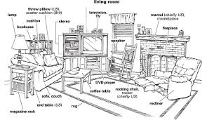 living room definition for language learners from