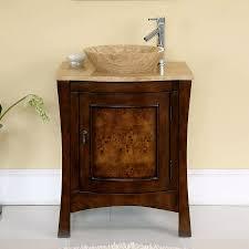 Vanity For Vessel Sink Shop Silkroad Exclusive Vanessa Red Chestnut Single Vessel Sink