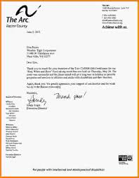9 thank you letters for donations letterhead template sample