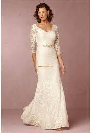 robe de mariage simple robe de mariée avec manches mi longue simple avec un style classique