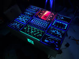 Star Wars Computer Desk Maker Creates A Tron And Star Wars Inspired Control Panel For His