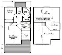 small cottage floor plans house tiny plans with loft