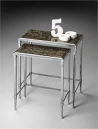 butler specialty nesting tables nickel nesting tables butler specialty 2277220 big center