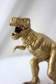 Animal Figurines Home Decor Gold Dinosaur Cake Topper T Rex Tyrannosaurus Figurine Animal