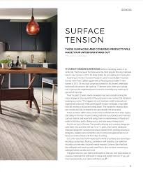 Interior Design Magazine Products Hanstone U0027s Cascina Collection Highlighted In Products Magazine