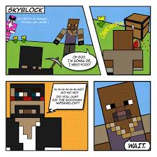 captainsparklez minecraft captainsparklez random skyblock comic thingy by anniemore on