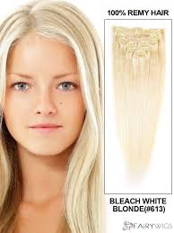 Blonde Hair Extensions Clip In by Body Wave Clip In Indian Remy Hair Extensions Bleach White