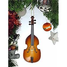 upright bass tree ornament musical instruments