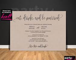 Eat Drink And Be Married Invitations Eat Drink Marry