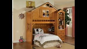 Building A Loft Bed With Storage by Tree House Style Rustic Oak Finish Wood Kids Loft Bed Bunk Bed Set