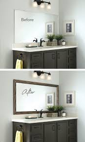 Bathroom Mirror Frames Kits Bathroom Mirror Frames