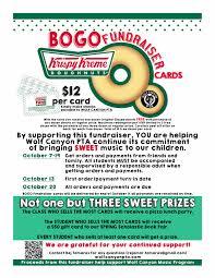 gift card fundraiser krispy kreme fundraiser flyer krispy kreme bogo card fundraiser
