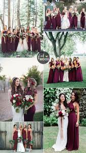 fall bridesmaid dresses burgundy bridesmaid dresses make your fall wedding stand out