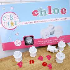 cake push easy mini lower alphabet cutters
